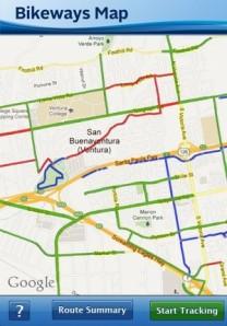 Ventura County Bikeways App screen shot